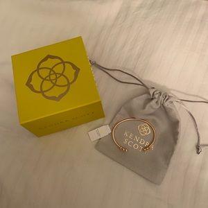 Kendra Scott Gold Bangle Bracelet with rhinestones